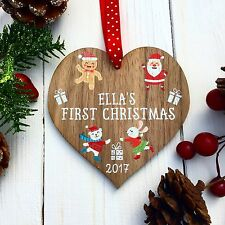 PERSONALISED BABY'S MY FIRST 1ST CHRISTMAS TREE BAUBLES PRESENT GIFT