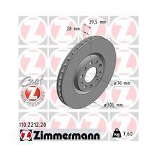 2 Disques de frein 305x28mm plaquettes De Freins Devant Alfa romeo 159