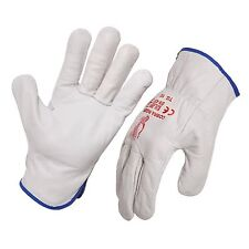 12 Pack - Protective Quality  Leather Riggers Gloves. Style No: 471100.