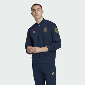 Men's Adidas Real Madrid LNY Lunar New Year Jacket Blue Comfort FR5569 Size M