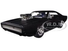 """DOM'S 1970 DODGE CHARGER R/T MATT BLACK  """"FAST & FURIOUS """" 1/24 BY JADA 97174"""