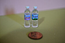 Miniature Water Bottles Set of 2 in 1:12 doll scale