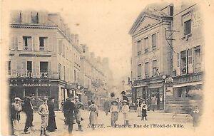 CPA 19 BRIVE PLACE ET RUE DE L'HOTEL DE VILLE