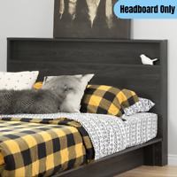 Modern Full/Queen Size Headboard w/ Shelf Storage Bedroom Accent Furniture Gray