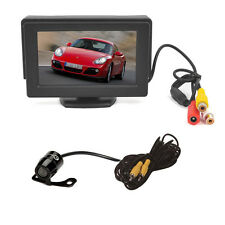 "4.3"" TFT LCD Color Car Rear View Monitor + Reverse Backup Camera DVD Clear View"