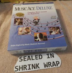 Music Ace Deluxe Harmonic Version Windows XP Mac OS SEALED Vintage Box