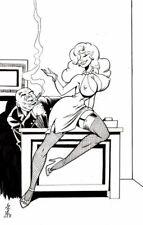 "NEWTON BURCHAM original art, PLAYBABE Cover, Lingerie, Sexy, 12"" x 18"""