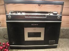 Rare vintage Sony CF-550A One Point Stereo AM/FM Cassette Recorder Nice!