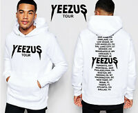 west style NEW BBP 2016 Yeezus Hoodies men Long T-shirts Graphic Sweatshirts