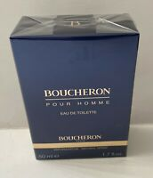 Boucheron Pour Homme 1.7oz/50mL. Eau de Toilette Spray Brand New In Sealed Box