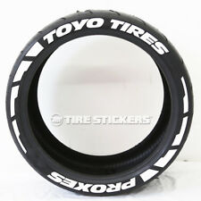 "TOYO TIRES PROXES ""Frost"" Tire Lettering  - 1.00"" 15""-16"" TIRE STICKERS White"