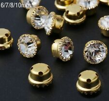 7MM CRYSTAL SEW ON JEWELS BUTTONS BEADS EMBELLISHMENTS CRAFT - VARIOUS PACKS