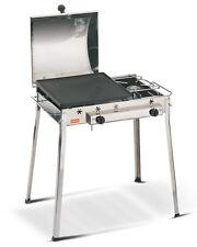 Barbecue acciaio combinato Ferraboli 93 inox piastra ghisa gas fornello - Rotex