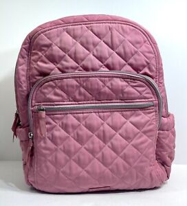 VERA BRADLEY ICONIC PERFORMANCE TWILL CAMPUS BACKPACK DAY PACK - STRAWBERRY ICE