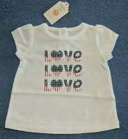 New/NWT Gymboree Baby Girls Patriotic 4th of July Americana Love Tee/Shirt