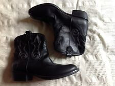Ladies Cowboy Boots Black New Size 6.5