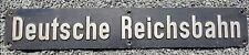 Original Dampflokschild, DEUTSCHE REICHSBAHN Lokschild Bahn Zugschild mit Stempe