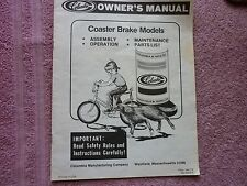 1983 COLUMBIA BICYCLE OWNER'S MANUAL HOW TO ASSEMBLE ADJUST MAINTAIN +Parts List