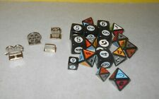 "Lot of Large Numbered Dice 1"" Cube - Yahtzee, Monopoly, Scene it Ect + Small"