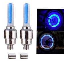Blue 2 LED Lamp Flash Tyre Wheel Valve Cap Light Car Bike Bicycle Motorcycle FF