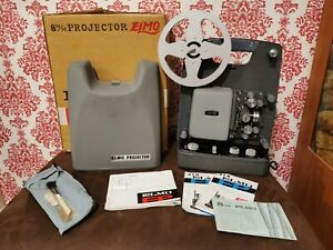 Ilford Elmo FP-C  8mm Cine Projector with case - Working Motor & Lamp