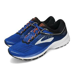 Brooks Launch 5 Blue Black Orange BioMoGo DNA Mens Running Shoes 1102781D-420