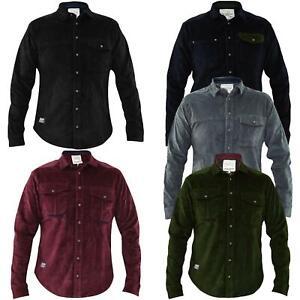 Mens Corduroy Casual Shirts Long Sleeve Cotton Jacksouth Jacket Top Sizes S-2XL