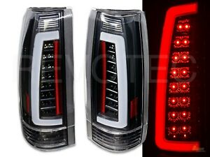 1988-1998 Chevy GMC CK Full Size Pickup Truck Black LED C-Bar Tail Lights 1 Pair