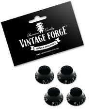 BLACK TOP HAT BELL KNOBS FOR GIBSON USA LES PAUL GUITAR CTS (SET OF 4) *NEW*