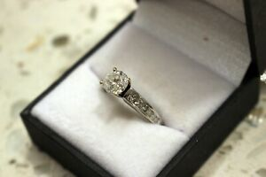 1.60ctw Round Diamond Engagement Ring with Princess Accents