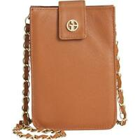 Giani Bernini Nappa Soft Leather Phone Case Crossbody Handbag, Brown