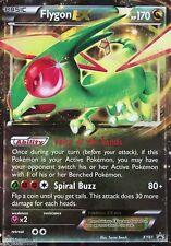 JUMBO Pokemon XY61 Flygon EX OVERSIZED Holo Promo Card w/ Top Loader