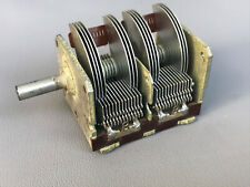 Vintage Dual Air Variable Capacitor 9-221pF Made in Denmark Tested 1 pcs