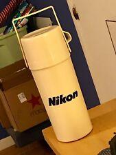 Nikon Thermos Aladdin Looks New Off White 1 Quart/Liter
