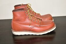 RED WING CLASSIC 6 INCH MOC TOE ORO LEGACY BOOTS STYLE 8131 SZ 10 E MADE IN USA