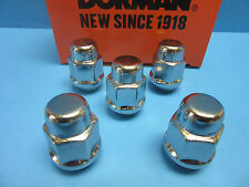 Set 5 Brand NEW Wheel Lug Nuts Acorn Bulge Seat Replaces GMC OEM# 611182 CHROME