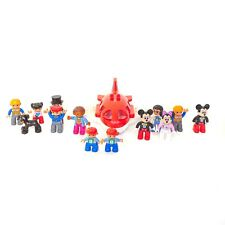 Lego Duplo Lot of 14 - Figures & Plane Disney Mickey, Minnie, Kids, Dog And More