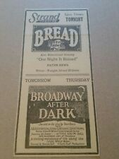 1925 Bread & Broadway After Dark Movie Newspaper Ad