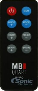 MB Quart N1-RC Wireless  RF LED-light Remote Control for Select MB Quart Marine
