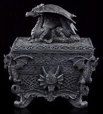 Schatulle mit Drachen - Dose Figur Fantasy Dragon Statue Box