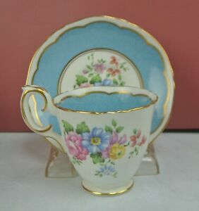 Vintage Crown Staffordshire Bone China Demitasse Cup and Saucer