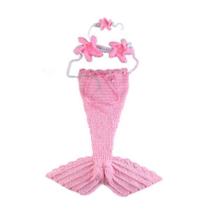 Newborn Baby Photography Props Mermaid Clothes Photography Outfit Muticolor