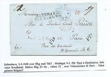 DENMARK: Cover Copenhagen to France 1848.