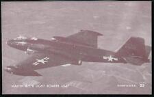 USAF MARTIN B-57B LIGHT BOMBER Aircraft Vintage Penny Arcade Exhibit Card #35
