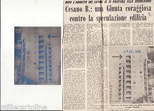 """#CESANO BOSCONE: CLICHE' ORIGINALE E RITAGLIO GIORNALE """"AVANTI"""""""