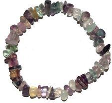 Fluorite crystal chip healing bracelet - Free Postage