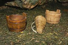 "Buckets Nativity Village Winery Tavern Decoration Set/3 For figures 7.5"" H."