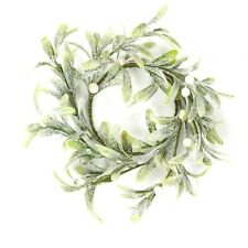Christmas Door Decoration - 20cm Round Mistletoe Wreath