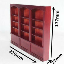 1/12 Scale Display Cabinet Dollhouse Miniature Furniture Red Bookcase Bookshelf