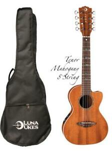 Luna High Tide Series 8-String Mahogany Tenor Acoustic-Electric Ukulele, UKE HTT